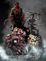 HELLBOY/ASH by RONJOSEPH-ARTIST