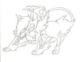 Luxray Familar: Inked Lines by SometimesCats