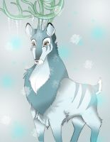 White Winter Stag by Boxjelly1