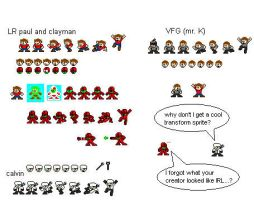 clayman and friends sprite sheet by LRpaul