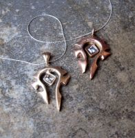 Rose Bronze and Bronze Horde Necklace by Peaceofshine