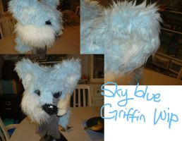 sky blue griffin head wip (older) by Disimprison
