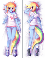 Rainbow Dash Dakimakura Preview by t-Hoodie