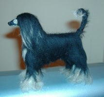 Needlefelted Afghan Hound by Okarnillart