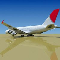 3D Airbus A380 JAL by Gandoza