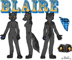 Blaire Fursuit Design by PhantomLlama