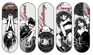 5 out of 7 sins - FMA bookmark by neomonki