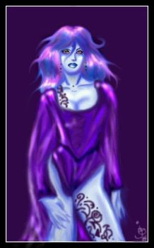 For Mistress Of Spam  Purple plumdidityumptios by Jburnstudios