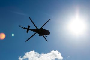 Helicopter In Sunlight by Simmemann