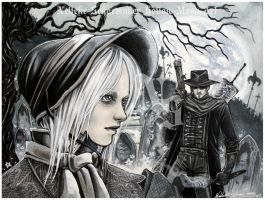 Bloodborne - behold the moon by Hollow-Moon-Art