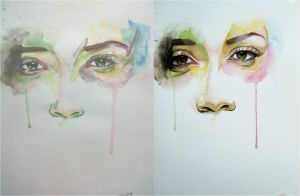 Eyes Watercolor by maryaballs