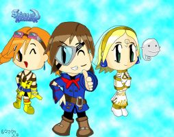 Skies of Arcadia Chibis by Stareon