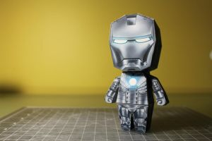 Iron Man Mk. II Paper Model (front) by eduranofficial