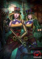 Twin Sister Steampunk by AmosRachman