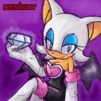 Rouge the bat by NENIKAT
