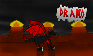 Drako the dragon by shadow-recon-666
