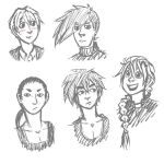 Sketches of the Gundam Pilots by roseannepage