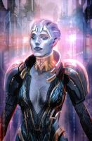 Samara the Mystic Asari by axl99
