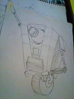 WIP: Halloween Stencil (Claptrap) by empy3
