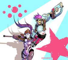 Widowmaker and Tracer by Josh-Ulrich
