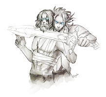 Only a practice, brother. by myabu