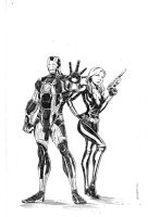 Iron Man and Black Widow by NJValente
