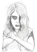 Living Dead Girl--Pencil by Franz-Josef73