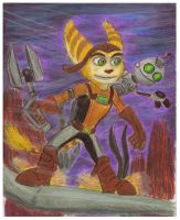 ' Ratchet and Clank Grindin' by CrystalMarineGallery