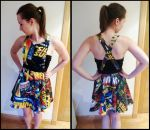 Marvel Comic Pinafore Dress by TombRaiderKuchen