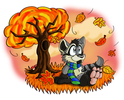 Autumn leaves by Hukley