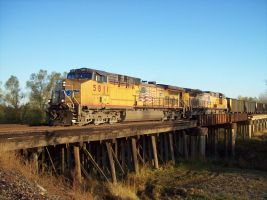 Union Pacific On Bridge by MEC518