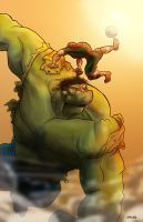Spidey vs. The Hulk... or something like that! :D by RAMONSALAS