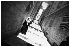 Jerusalem Street's Nun by McSes