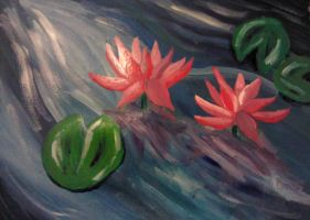 Lotus Flowers by faryewing