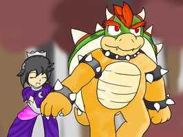 Bowser and the Chomp Princess ~Request~ by Xero-J