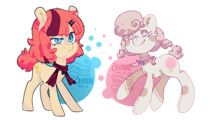 .:OPEN AUCTION:. Floof Pones by Dreamilicious