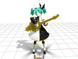 mmd meltdown miku by shivasina11