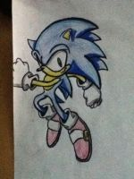 Modern Sonic The Hedgehog Drawing 2 by Lincik123