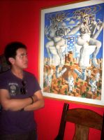 In front of a Tatong Painting by gromyko