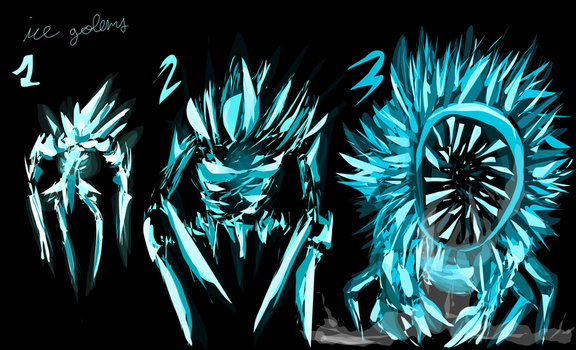 Ice Golems Vector Concepts by NinjaPigProductions