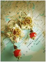 The Rose of Syria Earrings by GingerKellyStudio