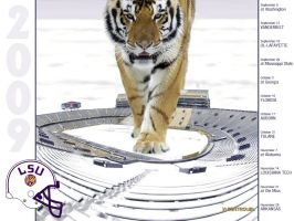 LSU Football Schedule 2009 by yurintroubl