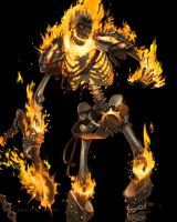 Flame Skeleton lvl 1 by AaronMiller