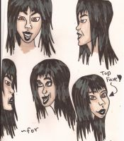 Cartoon Version -Pencil Neck Human Version- (goth) by TheHumanHunter