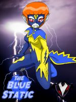 Blue Static - Electrifying Heroine by PlayboyVampire