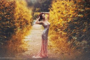 yellow garden by karen-abramyan