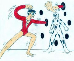 The Spot vs Plastic Man by Jose-Ramiro