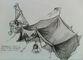 Tent and Well by Ohnhai