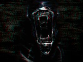 Giger Alien 3-D conversion by MVRamsey