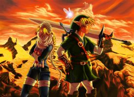 Sheik link in sunset by lakengubben